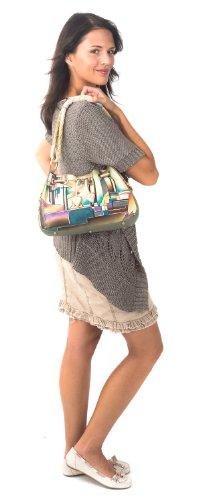 Zimbelmann  Polly, Sac pour femme à porter à l'épaule Turquoise Turquoise Mehrfarbig