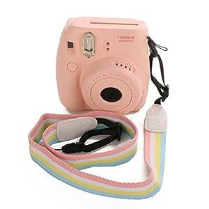 [Fujifilm Universal Camera Strap] - WOODMIN Adjustable Shoulder Belt for Fujifilm Instax Mini Camera, Polaroid Camera, Digital Camera, Nikon Camera, Cannon Camera, Samsung Camera(Rainbow)