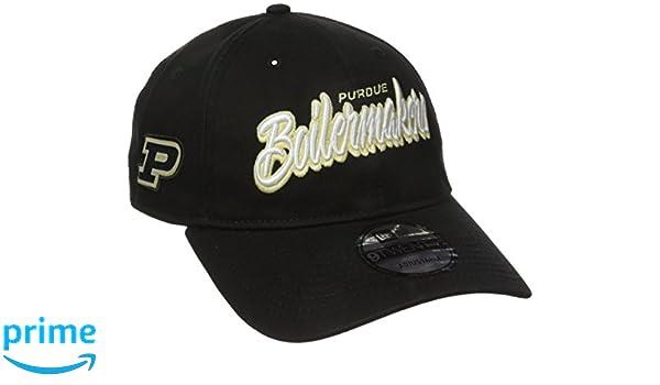 2c1aae60cd3 Amazon.com   New Era NCAA Purdue Boilermakers Adult Core Script 9TWENTY  Adjustable Cap