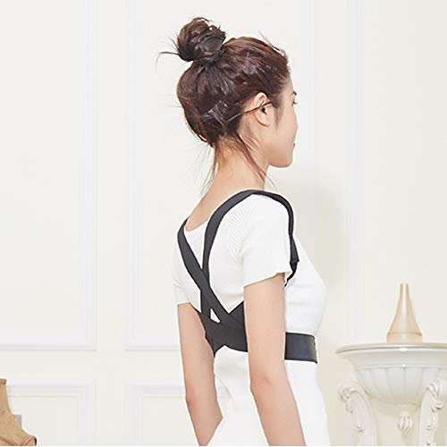 WYNZYJZBD Invisible Hunchback Correction Belt, Adult Students Universal Correction High and Low Shoulders with Chest Hunch Correction Belt Posture Correction (Size : M) by WYNZYJZBD (Image #4)