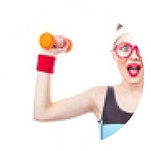 alfombrilla de ratón expresivas de la mujer listo para gimnasio - ronda - 20cm