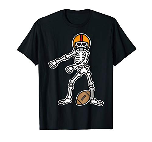 Flossing Skeleton Football Player Halloween Costume Shirt -