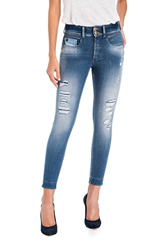 Salsa Jeans Level Secret avec Clous Bleu 1st Capri SSwUApx