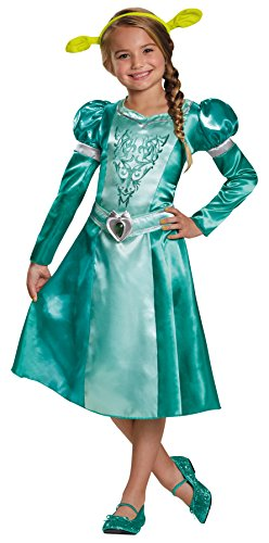Baby Girl Shrek Costume (UHC Girl's Fiona Classic Shrek Princess Fancy Dress Kids Halloween Costume, Child (7-8))
