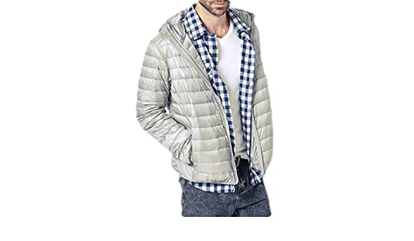 Jotebriyo Mens Warm Thicken Zip Front Slim Winter Down Quilted Coat Outerwear