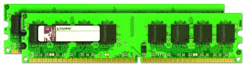 Kingston ValueRAM 2GB 800MHz DDR2 Non-ECC CL5 DIMM (Kit of 2) Desktop Memory from Kingston