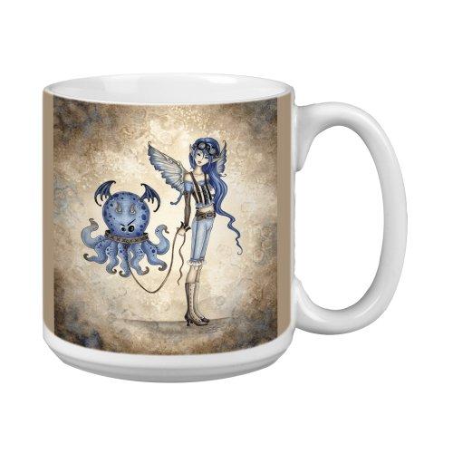 Tree-Free Greetings XM27569 Amy Brown Artful Jumbo Mug, 20-Ounce, Whimsical Roxy's New Pet ()