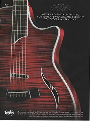 Magazine Print ad: 2006 Taylor T5 Thinline Fiveway Electric Guitar,