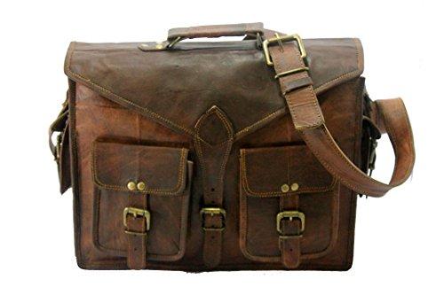 Handmade World Messenger Bag Leather Laptop Bags Computer Satchel Briefcase Unisex(15 Inch) by Handmade_World (Image #2)