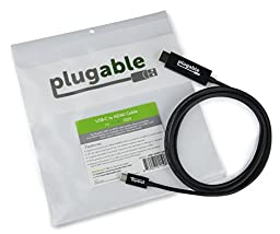 Plugable USB-C to HDMI 2.0 Cable (6\'/1.8m) for 2016 MacBook Pro, Dell XPS 13 & 15, Thunderbolt 3 & More (Supports 4K 60Hz Displays up to 3840x2160@60Hz)