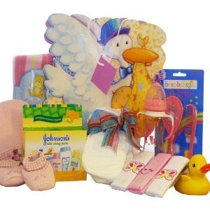 Look What The Stork Brought! Baby Gift Bag, Pink Girls