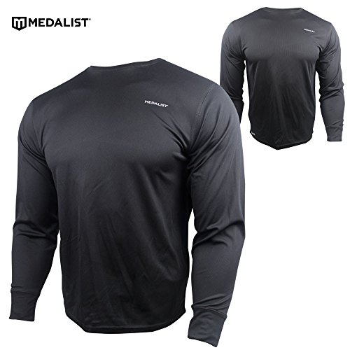 Medalist Men's Thermo-Gear Performance Micromesh Base Layer Crew Top Large - Apparel Medalist