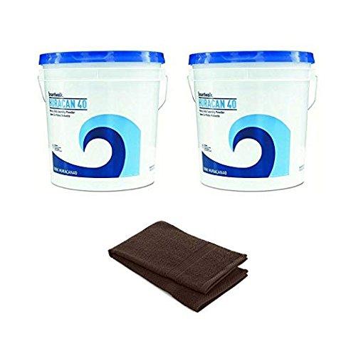 Boardwalk Low Suds Laundry Detergent, Economical, Powder, Fresh Lemon Scent, 40lb Pail - 2 Pack with Free Hand Towel