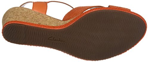 Orange Orange Clarks Leather Helio Knöchelriemchen Damen Latitude nwnOqfa