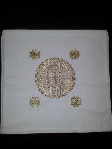 Christian Orthodox Greek Prosphora / Holy Bread Pouch No.5 (Byzantine Liturgy Catholic Christmas)