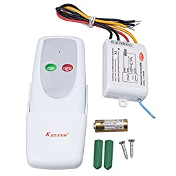 KEDSUM® Wireless 1 Way ON/OFF Digital Remote Control Switch 110V For All Lights