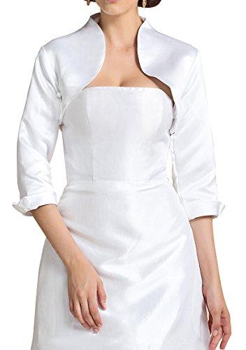 ace Satin Wraps Wedding Bridal Bolero Jacket WJ22 Ivory Size 16 (Satin Wedding Bridal Bolero)