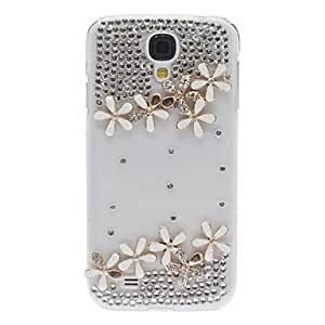 Bling Bling Exquisite Flower Design Hard Case with Rhinestone for Samsung Galaxy S4 I9500