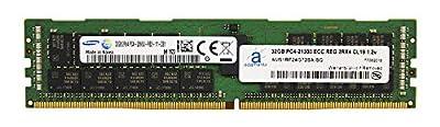 Adamanta 32GB (1x32GB) Server Memory Upgrade Compatible for Dell Poweredge, Precision & HP Proliant Samsung Original DDR4 2666MHZ PC4-21300 ECC Registered Chip 2Rx4 CL19 1.2v RAM DRAM