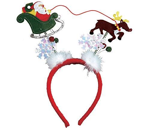 Amscan Multicolored Marabou Headbopper   Christmas Accessory