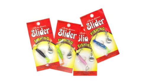 Slider Spin Jig, 1/16-Ounce, Blue Ice/Chartreuse