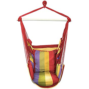 Amazon Com Sorbus Hanging Rope Hammock Chair Swing Seat For Any Indoor Or Outdoor