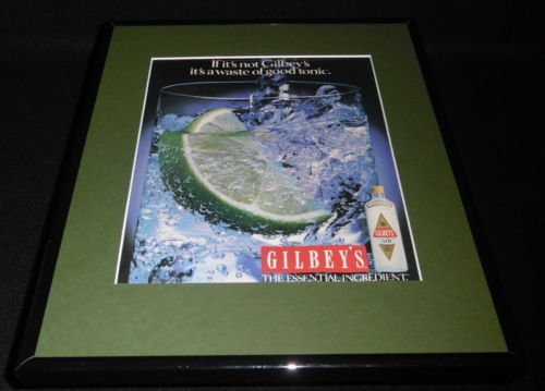 1987 Gilbey's Gin Framed 11x14 ORIGINAL Vintage Advertisement ()