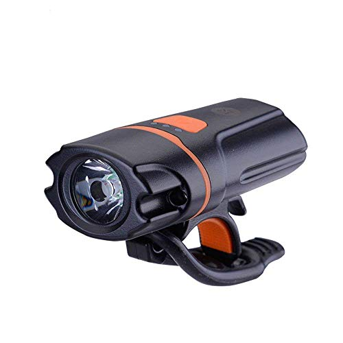 Buybuybuy Bike Light Set - USB rechargeabler Bright LED Lights for Your Bicycle - Easy to Mount Headlight with Quick Release System - Bike Front Head Light and Safety Flashlight - Kids Grape Emergency