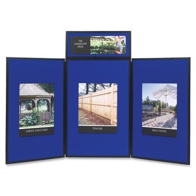 QRTSB93513Q - Quartet Show-It! 3-Panel Exhibition Display System by Quartet by SHOWBOARD,3 PANEL,BE