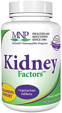 Michael's Naturopathic Programs Kidney Factors - 120 Vegetarian Tablets - Kidney Function Support Supplement, Promotes Calcium Processing, Detoxification - Kosher - 40 Servings
