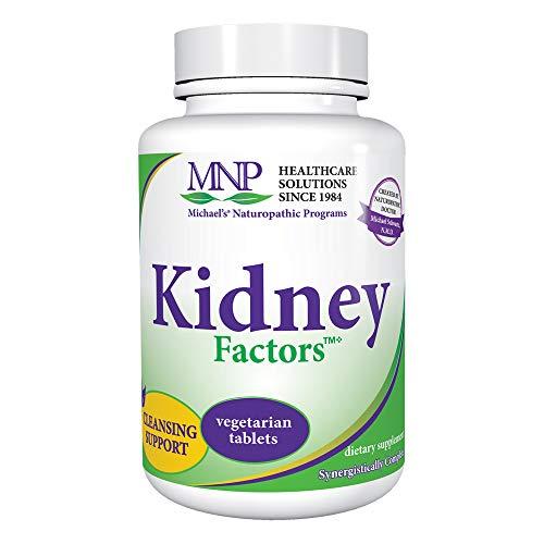 Michael's Naturopathic Programs Kidney Factors - 120 Vegetarian Tablets - Kidney Function Support Supplement, Promotes Calcium Processing, Detoxification - Kosher - 40 Servings