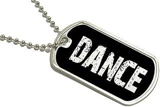 Dance–Military Dog Tag Porte-clés