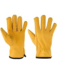 Suse's Kinder Top Grain Leather Kids Work Glove, Med Ages 6-8, Yellow