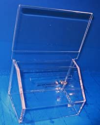 National Display Warehouse Clear Charity Collection Container / Donation box DB10
