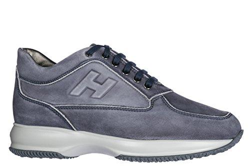 Hogan Herresko Herre Lædersko Sneakers Interaktiv Blu riEkvSenj