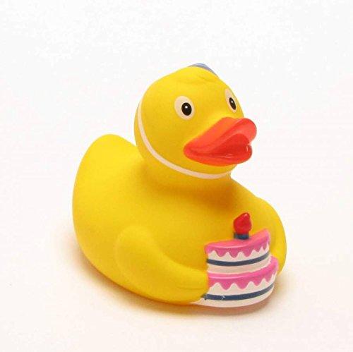 Rubber Duck - Happy Birthday | Bath Duck | L: 7 cm