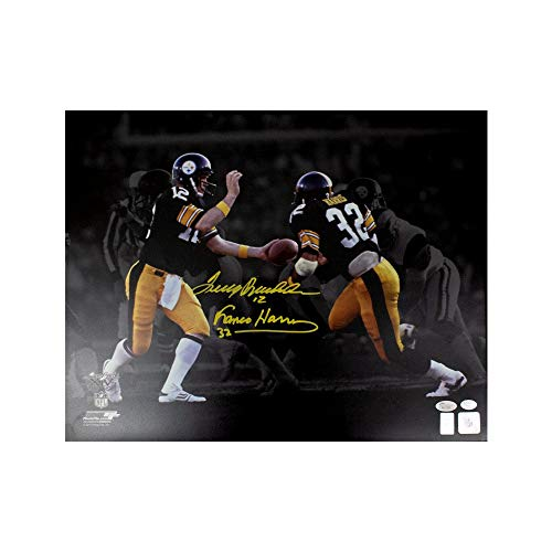 Terry Bradshaw Franco Harris Autographed Pittsburgh Steelers 16x20 Photo JSA COA