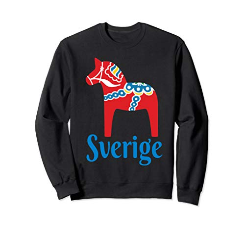(Sverige Sweden Swedish Dala Horse Dalecarlian Horse Nordic Sweatshirt)