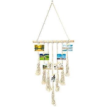 Amazon Com Okasi Hanging Photo Display Macrame For Wall