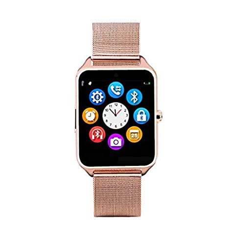 Amazon.com: OYJ Smart Watch, GT08 Plus Metal Strap Bluetooth ...