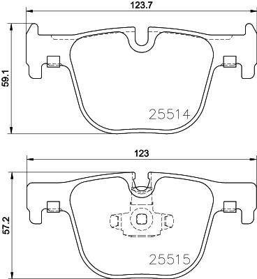 Replacement Mintex Rear Brake Pads (Full set for Rear Axle) -
