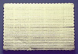 5, 9-3//4 x 13-3//4 Gold Corrugated Rectangular Cake Boards Single Wall