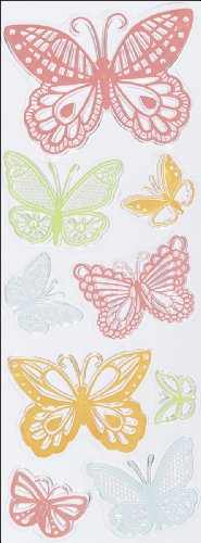 Martha Stewart Crafts Clear Stamps, Doily Lace Butterflies Doily Lace Ink Pad