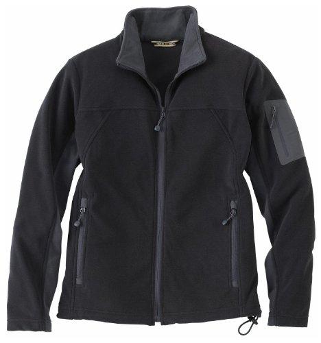 Ladies' Full Zip Microfleece Jacket, Color: Black w/Fossil Grey, Size: Medium