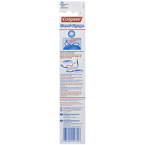 Colgate Travel Toothbrush, Soft Colors May Vary (Pack of 12) by Colgate (Image #1)