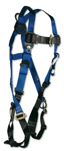 FallTech 7017 Contractor Full Body Harness with 3 D-Rings and Mating Buckle Leg Straps, Universal Fit by -