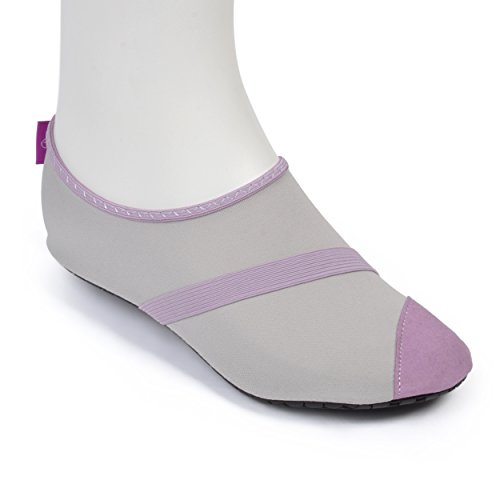 FitKicks Women's Gray/Lavender  Active Footwear - Large / 8.5-9.5 B(M) US