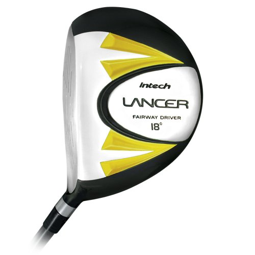 Intech Lancer Junior Golf Set, (Right-Handed, Age 4 to 7, 17.5 degree Driver, 4/5 Hybrid Iron, Wide Sole 7 and 9 irons, Junior Putter, Yellow, Deluxe Stand Bag) by Intech (Image #2)