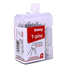 Oddy Rust Proof Stainless Steel 2.5 cm T-Pins All Purpose T Shaped Pins with See Through Box - Pack Of 5