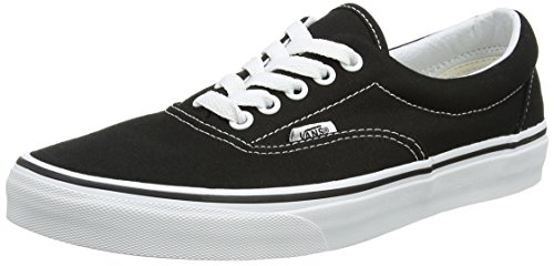 Vans Classic Era Negro Unisex Black Canvas White Zapatillas Adulto r5r1gq